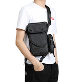 Men Oxford Waterproof Waist Pack Fanny Pack Bag Outdoor Sling Bag Crossbody Bag