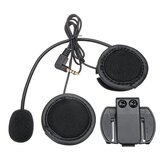 V6/V4 Bluetooth Casco da moto Interphone Intercom Headset Cuffie Black