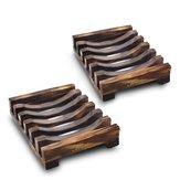 10.8x8x2.5cm de madeira feito à mão sabão banheiro prato pia esponja artigos diversos titular cremalheira