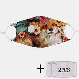 2 szt. PM2.5 Filtrowe maski jednorazowe z maską oddechową