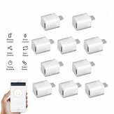 10Pcs Micro 5V Wireless USB Smart Adaptor WiFi Mini USB Power Adaptor Switch APP Remote Control Voice Control Switch For Smart Home Works with Alexa Google Home