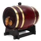 1.5L / 3L / 5L Madera Timber Red Wine Oak Barril Whisky Rum Brewing Keg Container