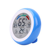 DANIU Multifunctional Digital Thermometer Hygrometer Temperature Humidity Meter Touch Screen Multicolor Min Value Trend Display ℃/℉