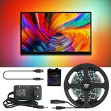 Ambilight DC5V 2M / 3M / 4M / 5M WS2812B 5050 RGB Dream Color USB APP LED Strip Light para pantalla de PC de escritorio