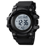 SKMEI 1552 Sport Herrenuhr Wasserdichte leuchtende Datumswoche Display Stoppuhr Countdown Outdoor Digitaluhr