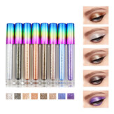 8 Farben Colorful Schimmer Glitzer Liquid Eye Shadow