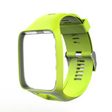 Silicone Watch Band Strap Replacement For TomTom Runner 2&3/Golfer 2/Spark 3