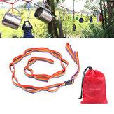 FarbefulZeltHangLanyardZeltSeil Schnur für Outdoor Camping Wandern Garten Zubehör