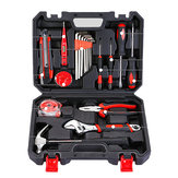 20Pcs Repair Hand Tool Set Home Household Kit with Screwdriver Wrench Hammer Tape Wire Cutter & Box