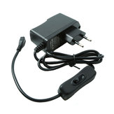 EU Standard 5V 2.5A Power Supply With Power Switch Charger For Raspberry Pi