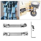URUAV 2 قطع ترقية أجزاء الفضة معدن حملة رمح ل wpl henglong 1/16 rc crawlers سيارة