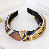 Silk Headband Solid Color Sponge Hair Accessories Hndmade Je