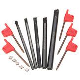 5pcs sclcr 6/7/8/10/12 milímetros Torno ferramenta tunring chato bar com inserção 5pcs ccmt0602