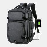 男性大容量防水USB充電16インチラップトップバッグビジネス屋外ハンドバッグバックパック