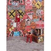 5x7FT виниловые граффити настенный телефон медведь фотография фон фон студия опора