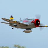 Dynam P-47D Thunderbolt V2 1220 mm Spannweite EPO RC Flugzeug Warbird PNP mit verbessertem Stromversorgungssystem