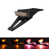 12V License Plate Motorcycle Rear Fender Tail Stop Lights Turn Signal Lamp Universal