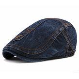 Boina masculina de algodão lavado casual Chapéu exterior ajustável pintor cabbie bonés jornal