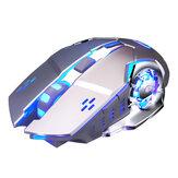 YINDIAO A4 Mouse sem fio 2.4G para jogos recarregável silencioso 1600DPI Ergonômico Home Office Business Mouse para PC laptop
