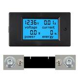 TSPZEM-051 DC 6.5-100V 0-100A LCD Display Tegangan Arus Digital Pengukur Energi Multimeter Ammeter Voltmeter dengan Arus Shunt 100A
