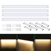 4Pcs 120cm AC85-265V LED Surface Mount Lights 2835SMD LED Batten Linear Tube Light for Office Supermarket Home