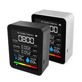Medidor 5-em-1 de CO2 TFT Tela Monitor de Qualidade do Ar Temperatura e Umidade Sensor Testador TVOC Detecção de Formaldeído Detector HCHO Detector de Dióxido de Carbono