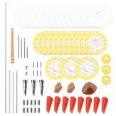 أدوات إصلاح صيانة الفلوت المهنية عدة مسامير + جوانات + منصات + المسامير + القصب الملحقات الموسيقية والقضية
