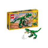 LEGO Creator Mighty Dinosaurs 31058 Build It Yourself Dinosaur Set, Create a Pterodactyl, Triceratops and T Rex Toy (174 unidades)