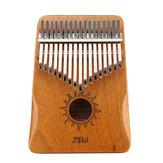 ZANi 17 kulcsos Kalimba Acacia hüvelykujj zongora zenés ajándék zenekedvelőknek, gyerekeknek, kezdőknek
