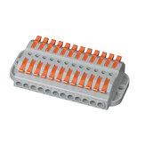 600V 32A draadconnector 12 in 12 uit draadsplitter aansluitblok Compacte bedrading Kabelconnector Push-in geleider