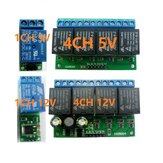 1-4CH 5V 12V Flip-Flop Latch Relay Module Bistable Self-lock Switch For Smart Home