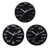 20cm Math Round Wooden Wall Clock Modern Home Living Room Kitchen Watch Decor