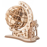 3D Wooden Globe Puzzle Assembly Model Laser Cutting DIY Toys Wood Craft Desk Decor