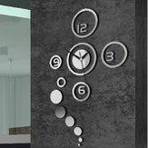 Honana DX-X1 Creative 3D Acryl Spiegel Wandaufkleber Quarzuhren Watch Large Zuhause Dekor