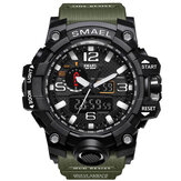 SMAEL 1545 رقمي Watch حزام Dual عرض ضد للماء Sport Quartz Watch Analog