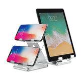 Bakeey Çift Katmanlı Katlanır Evrensel Telefon/Tablet Tutucu Çok Açılı Yaratıcı Alüminyum Alaşımlı Masaüstü Braketi POCO F3 X3 NFC için Standı