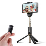 BlitzWolf BW-BS3 Serbaguna 3 in 1 bluetooth Remote Control Tripod Selfie Tongkat untuk iphone 8 8 Plus X
