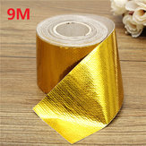9mx5cm Adhesive Reflective Gold High Temperature Warmte Shield Wrap Tape Roll