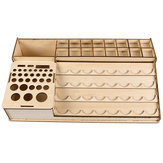 39.5x22.6x6.7cm Wooden Pigment Paint Resin Bottle Jar Rack Modular Organizer Storage Stand Holder
