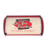 Kamstrong Iron Bread Bin Storage Keeper Loaf Container-Red/Blue/Grey