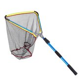 3-Section Folding EVA Handle Fishing Landing Telescopic Extending Pole Fish Net