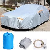 3XL4.86x1.85x1.5mの車のカバー防水傷防止雨の雪太陽盗難防止と盗難防止のロック