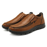 Menico Casual Comfy Soft Moc Toe Slip On Läder Oxfords