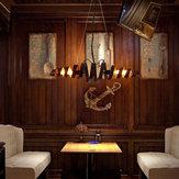 E27 Retro Vintage Fashion Żelaza Wisiorek Światła Restauracja Oprawa Lampy Sufitowe Wiszące AC110-240V