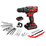 Mensela ED-LX1 21V 3 In 1 Cordless Drill  Driver Combo Kit Double Speed Power Drills with LED lighting 2Pcs 2.0Ah Battery