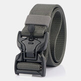 Men Nylon Braided 125cm Magnet Quick Release Buckle Wear-resistant Outdoor Military Training Tactical Belts