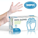 100Pcs Tearproof Antibacterial Safety Disposable Glove Powder-free Top Examination Gloves L Size Stretchy