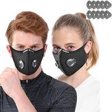 1 unidad de bicicleta Mascara filtro de 5 capas antiniebla PM2.5 polvo a prueba de polvo Mascara con 10 filtros