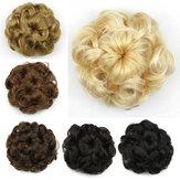 8 cores flor em botão curto encaracolado Cabelo sete flores cordão Peruca peça