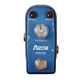 AZOR AP-301 Vintage Phaser Guitar Effect Pedal, Mini Pedal Pure Analog Processor with True Bypass